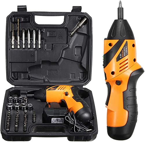 ZXMOTO 45 in 1 Electric Screwdriver Cordless Power Screwdriver 4.8V Rechargeable Wireless Drill Power Tools Kit