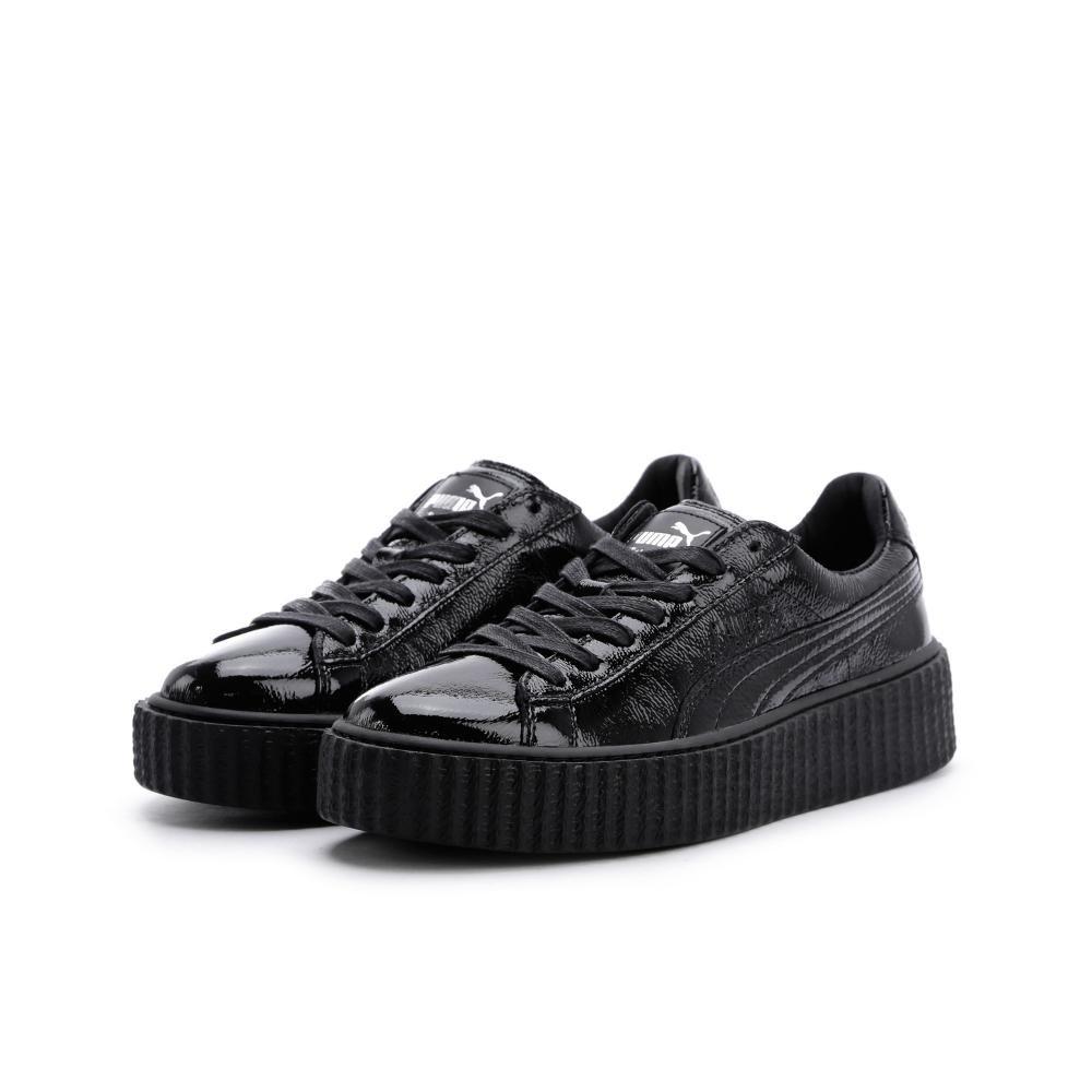 PUMA Women's Fenty x Cracked Creeper Sneakers B01KX162N4 6.5 B(M) US Puma Black/Puma Black