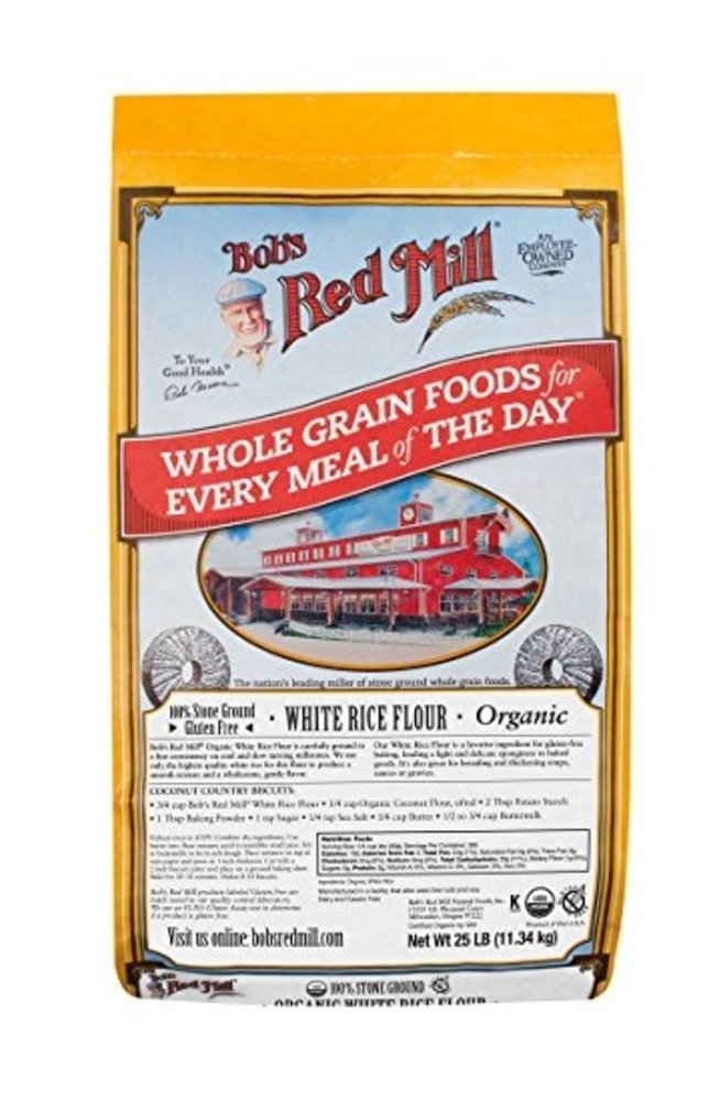Bob's Red Mill Organic White Rice Flour, 25 Pound by Bob's Red Mill