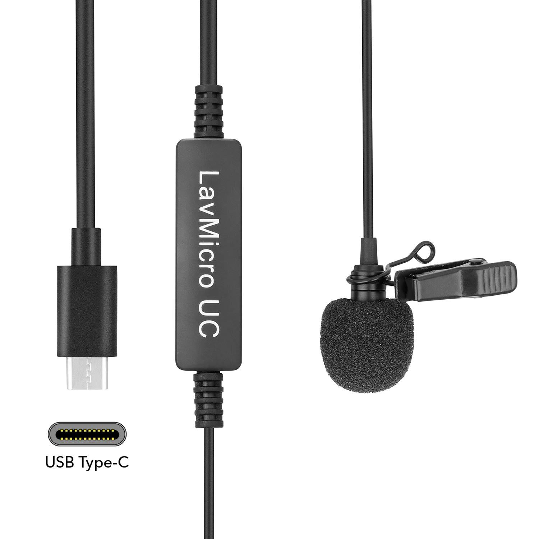 Pixel Type-C Lavalier Lapel Micr/ófono Micr/ófono de Condensador omnidireccional para tel/éfono Inteligente,videoc/ámaras PC grabadoras de Audio entrevista Video micr/ófono de grabaci/ón para Youtube