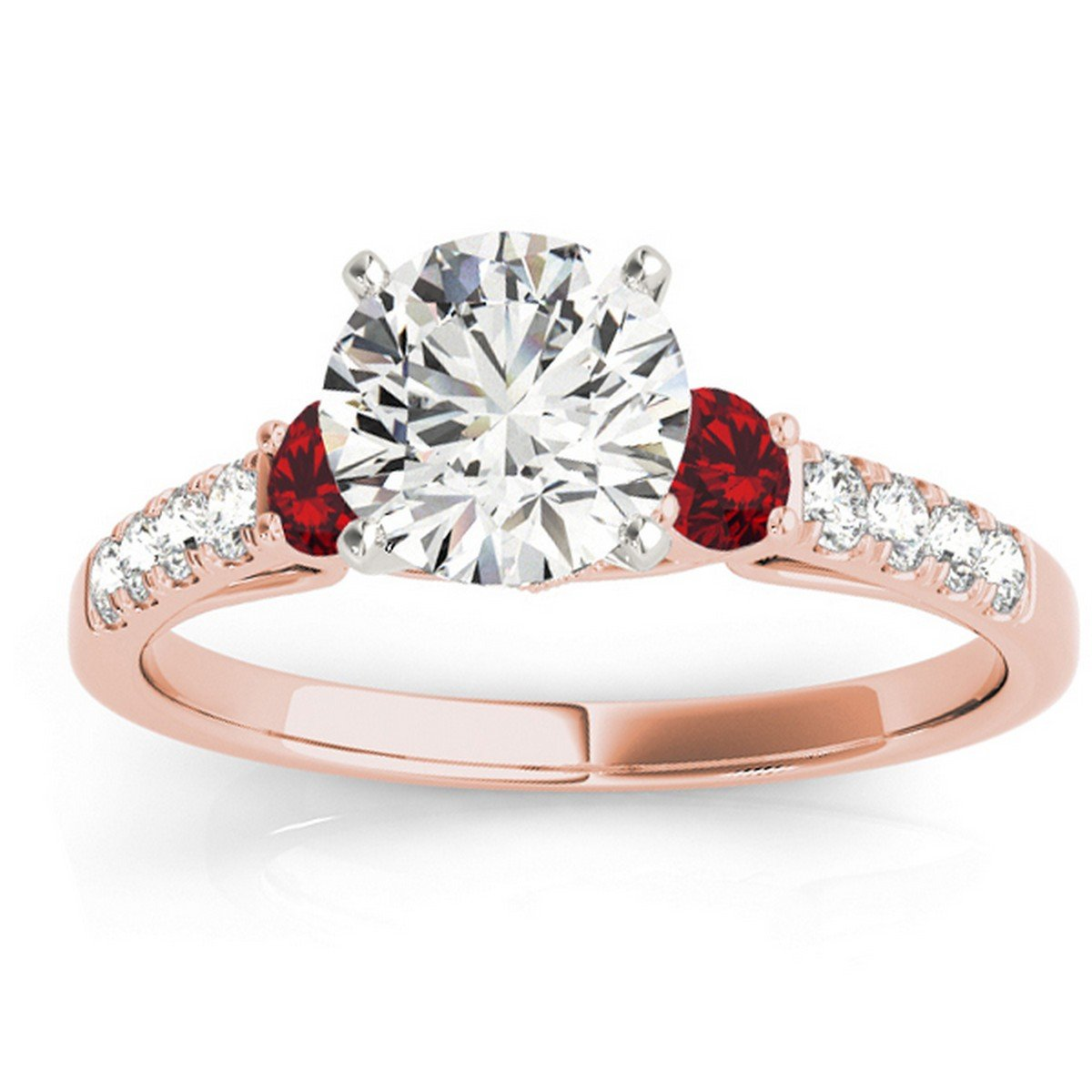 18k Gold 043ct Diamond And Ruby Prongset Unique Engagement Ring Setting Amazon: Ruby Wedding Ring Set 18k At Reisefeber.org