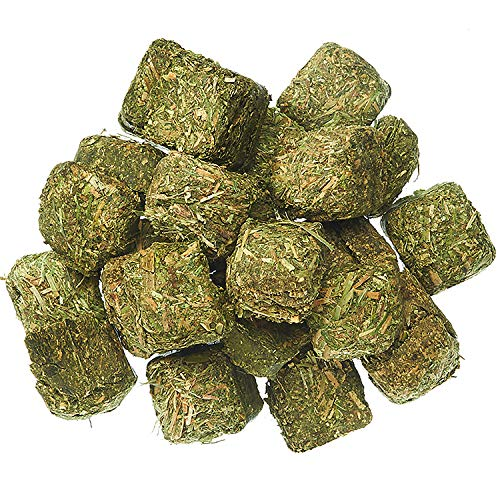 Timothy Hay Cubes (3 lb) - Premium Hay for Guinea Pigs, Rabbits, Chinchillas, Prairie Dogs, Degus, Hamsters, Rats, Tortoises & Other Herbivores - Natural Sun-cured Timothy Hay - High Fiber - Cubes Hay Timothy