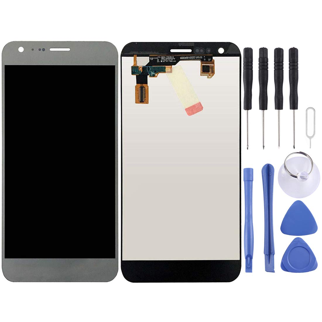 for LG X Cam / K580 / K580I / K580Y LCD Screen and Digitizer Full Assembly(Gold) (Color : Silver)