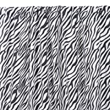 Sin in Linen Black Zebra One Curtain Panel, 48 by 84-Inch