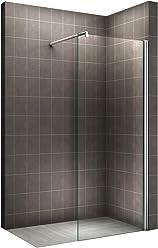 i-flair Walk In Dusche, 10mm STARK, Duschabtrennung aus ESG Sicherheitsglas mit NANObeschichtung #840 (160cm x 200cm)