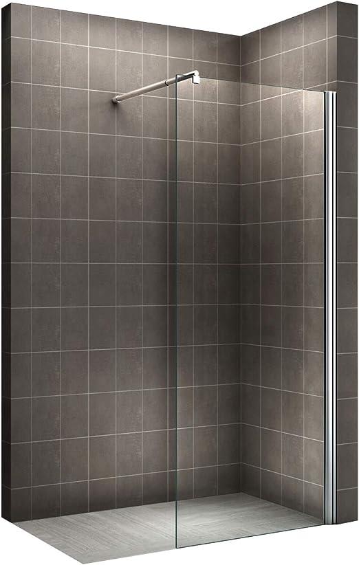 Mampara de ducha, sin escalón, 10 mm, resistente, 70 – 160 x 200 ...