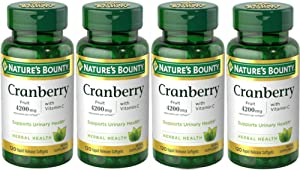Nature's Bounty Cranberry Fruit 4200 mg, Plus Vitamin C Softgels, 120 ea (Pack of 4)