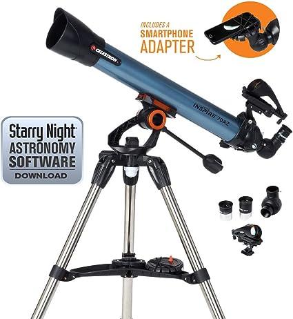Celestron Inspire - Telescopio astronómico (70 mm de Apertura, 700 ...