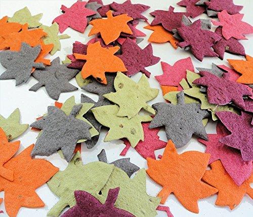 Leaf Maple Invitations Wedding (Plantable Seed Paper Leaf - DIY Party & Wedding Favors (Qty. 25))