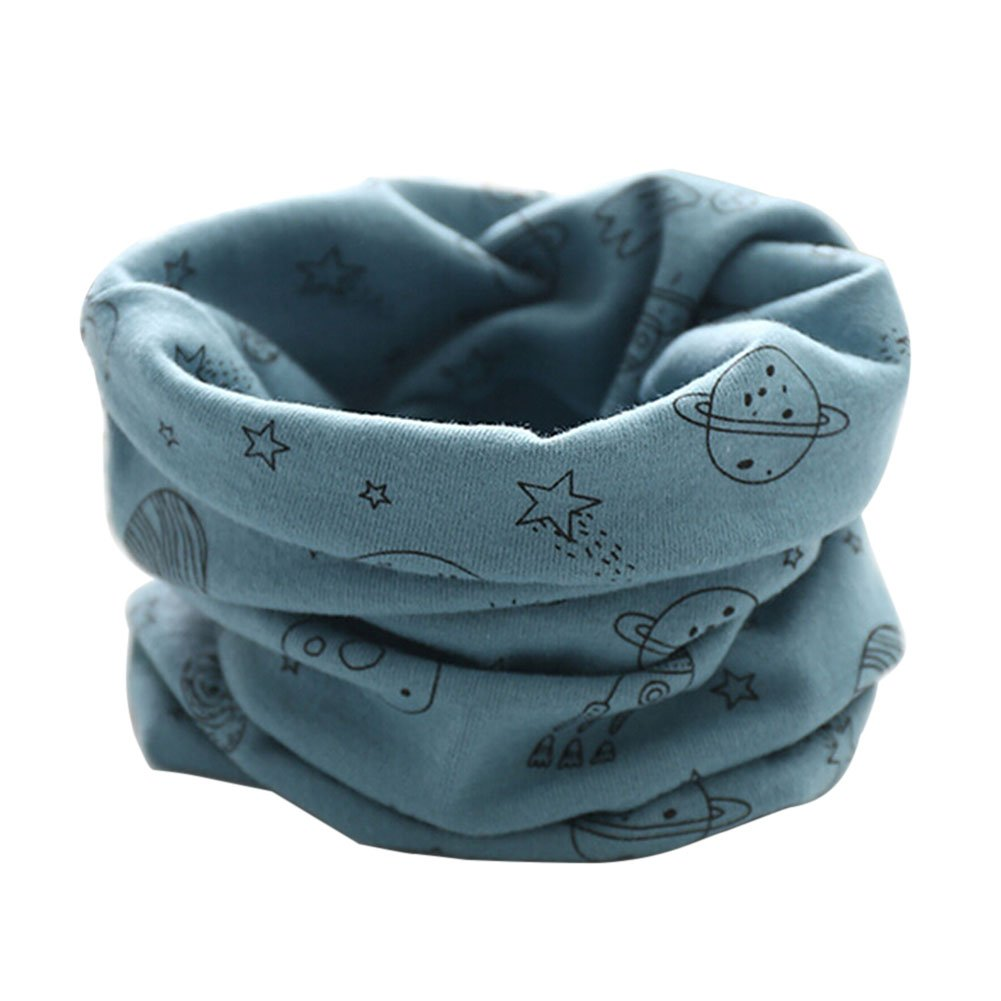 Butterme Baby Boys Girls O Ring Neck Warmer Cotton Collar Scarves Neck Scarves(Blue-UFO) ZUMUii ZUMU00005669