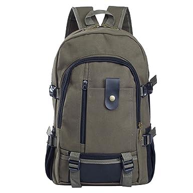 84832c3422a1 Shoulder Strap Zipper Solid Casual Bag Male Backpack School Bag Canvas Bag  Designer Backpacks Men Army