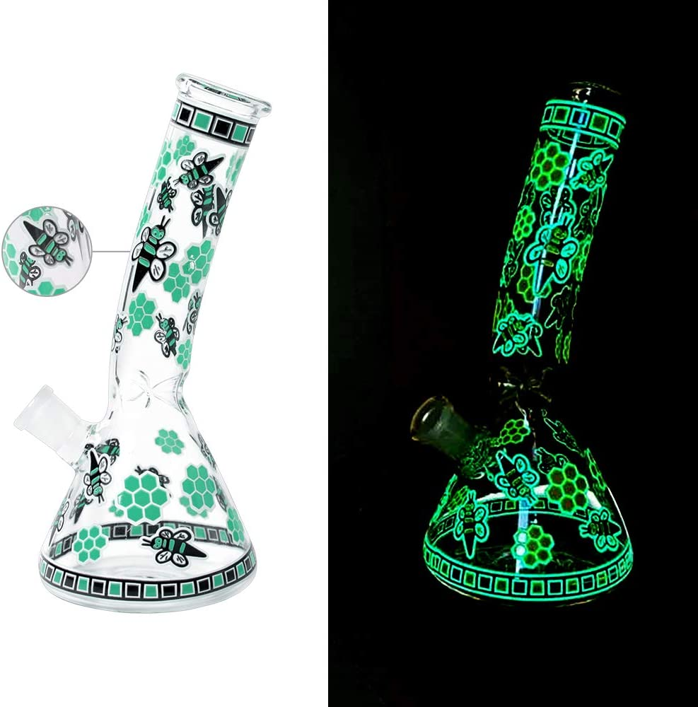 Amdrfo Glass Unique Beautiful Design Green Bee Luminous