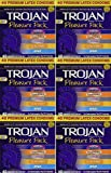 Trojan, Pleasure Pack Premium DRxRM Lubricated Latex Condoms 40 Count (Pack of 6) xTbFN