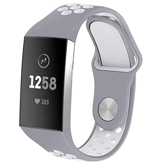 Amazon com: Mangix Fitbit Charge 3 Bands,Sport Silicone Replacement