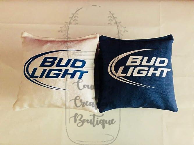 8 ACA Regulation Corn Hole Tailgate Game Baggo Toss Coors Light Beer Cornhole Bags Bean Bags