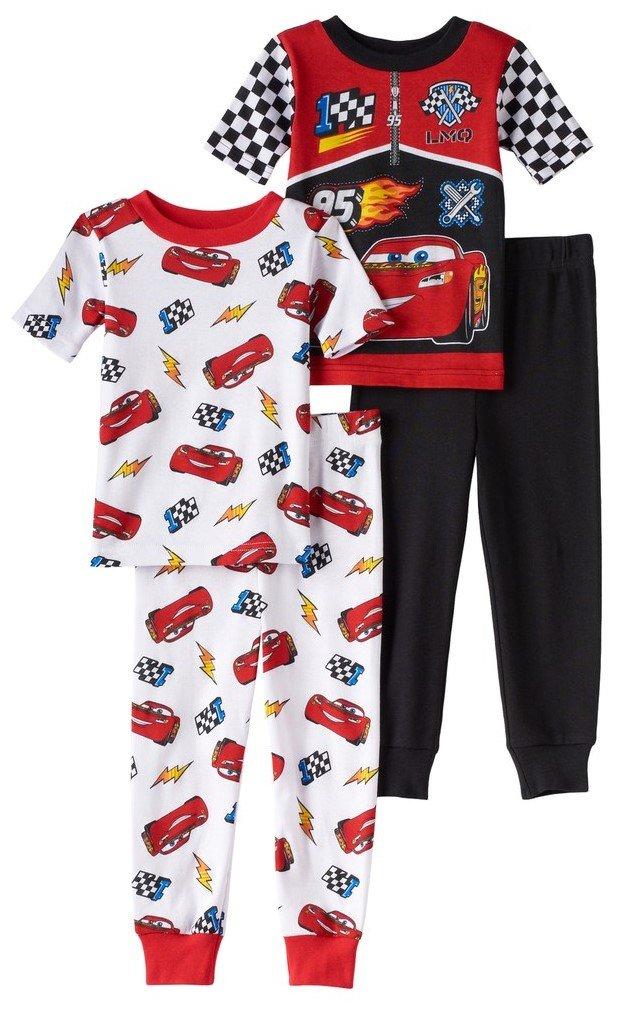 Disney Toddler Boys Cars 4-Piece Pajama Set