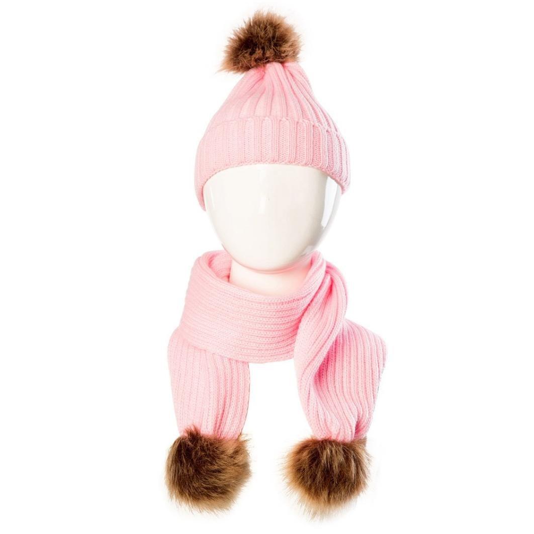 ZARU Pompon Lindo bebé de Invierno para niños Muchachos de Las niñas  calientan Gorros de Lana (Rosado  2)  Amazon.es  Juguetes y juegos d5a9eb041f4