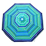Platinum 6.5 ft Polyester 100 UPF Beach Umbrella with Vent & Tilt