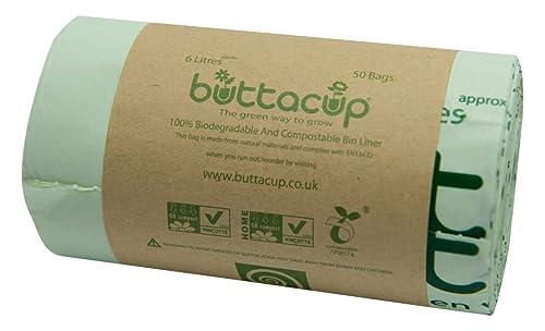 bin liners 100 bags 6l compostable biobag kitchen caddy. Black Bedroom Furniture Sets. Home Design Ideas