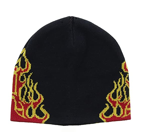 Milani Winter Warm Flames and Fire Knit Beanie Cap Ski Snowboard Hat BJ0032 341b3c64785
