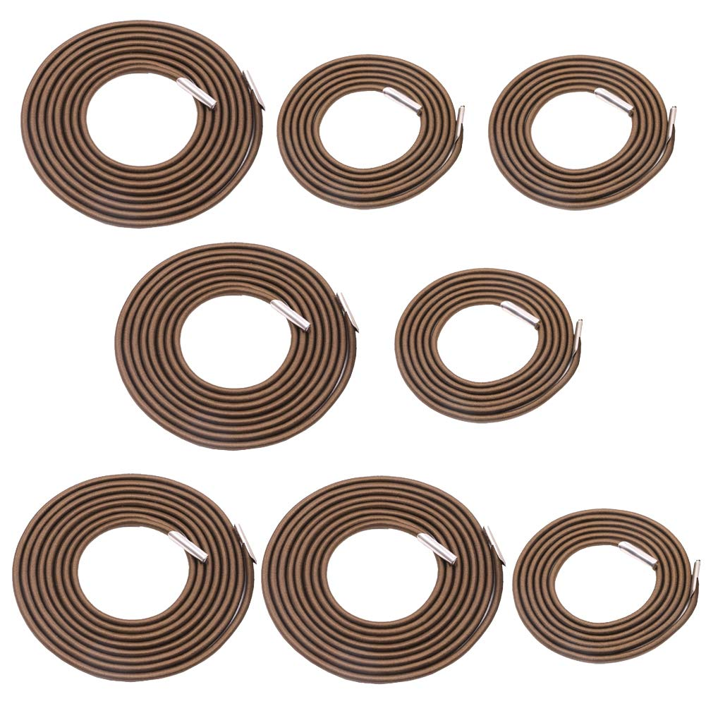 Universal 8 Replacement Cords for Zero Gravity Chair Replacement Laces Premium Bungee Ropes Recliner Repair Parts for Lounge Chair Anti Gravity Chair Bungee Chair (Coffee, 8 Cords(4 Longs + 4 Shorts) by Gloaso