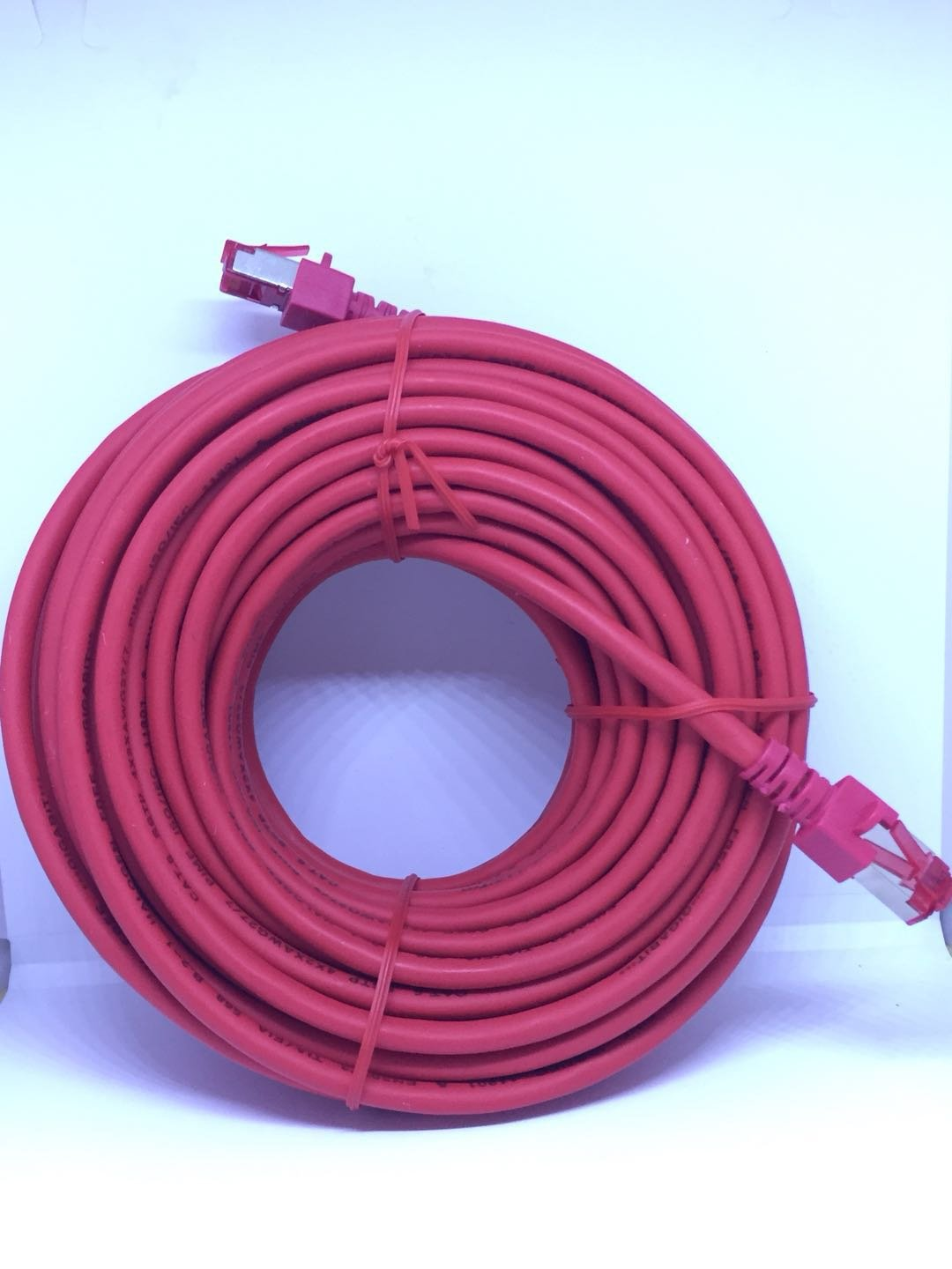 Skyline High Speed CAT.6 Ethernet Cable SSTP Patch Cable with Aluminum Alloy shield RJ45 Jack for Ethernet HALOGEN FREE 15 Meter (50 FT)(Red)