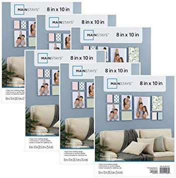 Amazoncom Mainstays 8x10 Format Picture Frame Set Of 12 White