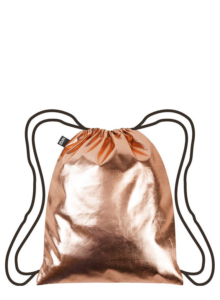 METALLIC Gold Neon Tü rkis Backpack: 43.5 x 34cm LOQI GmbH B071VDGX9Z BP.ME.GO.N Innenarchitektur / Design Non Books / Taschen Bags