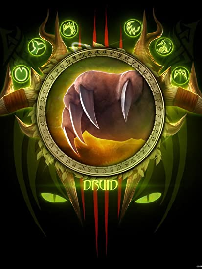 Amazon World Of Warcraft Class Druid Emblem Banner Flag Fan Art