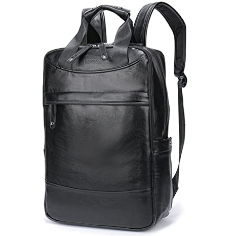 52ede707cef6 UKXMNC Big Capacity Leather Travel Backpack Business Office School Backpack  Bags For Men Black