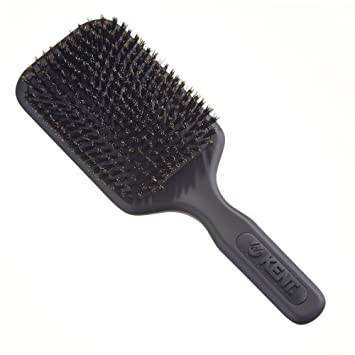 KENT AH12G Airhedz Pro Pure Bristle Paddle Brush (Extra Large, Grey)