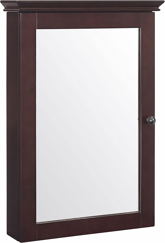 Crosley Furniture Lydia Mirrored Bathroom Wall Cabinet, Espresso