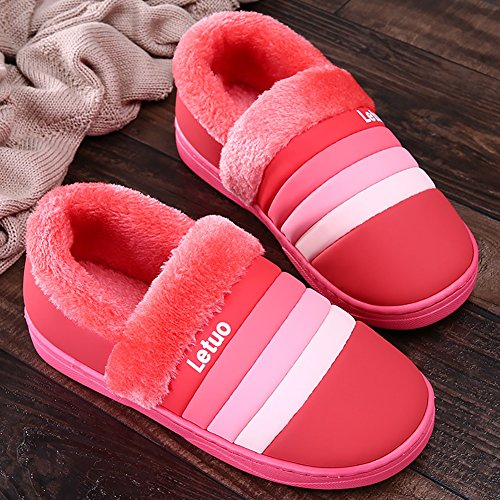 Slippers C Liveinu Red Slipper House Winter Men Shoes Women Indoor Hz6XzUR