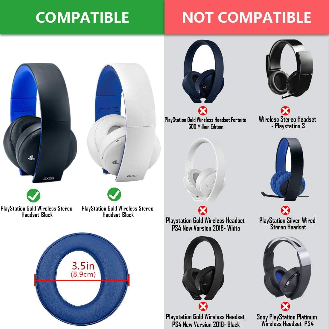 Black PSV Gold Wireless Headphone Replacement Ear Pad/Cushion/Ear ...