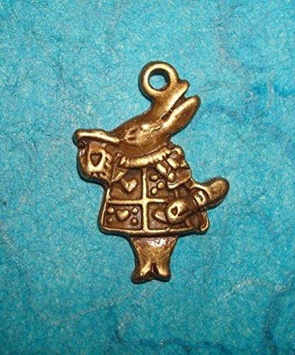 - Pendant Rabbit Charm Alice in Wonderland Music Cards Heart Spade Club Diamond Pe