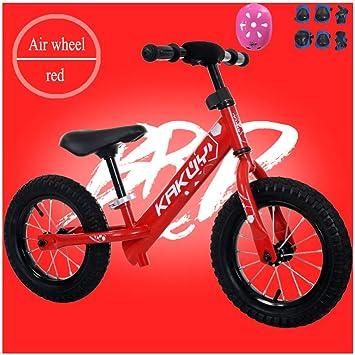 YSH Bicicleta De Equilibrio Bicicleta para Niños Pequeños Ligero Manillar Ajustable Y Altura del Asiento Neumático/Rueda De EVA 2-6 Años / 80-120cm,G: ...