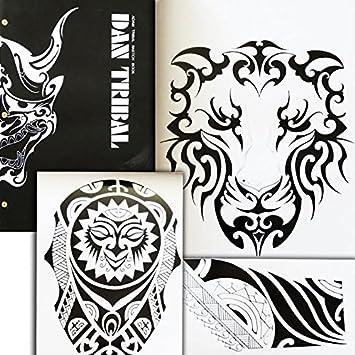 Amazoncom Dan Tribal Adam Tribal Totem Tattoo Flash A3