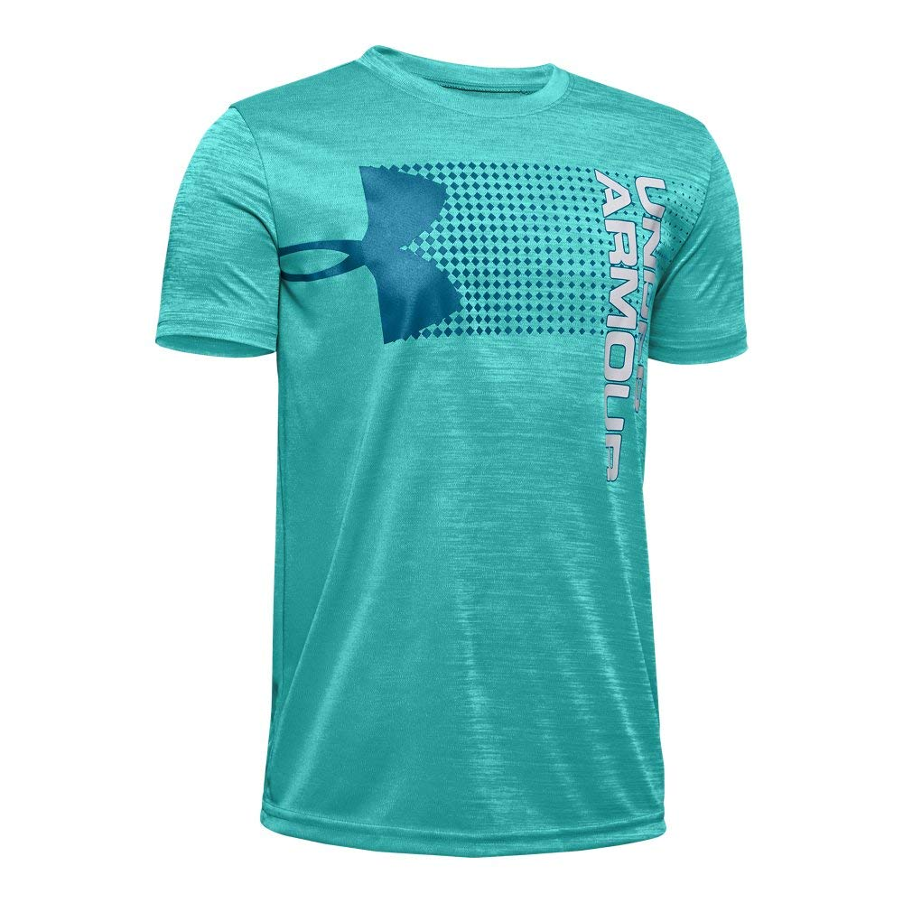 Under Armour Boys' Crossfade T-Shirt, Teal Rush (454)/Teal Vibe, Youth X-Large by Under Armour