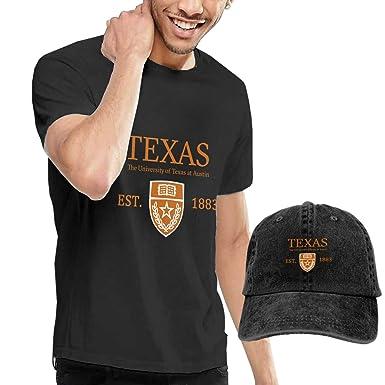 675b032baf17eb Exclusivepro Funny Men's T-Shirt with Snapback Black, University of Texas  at Austin Established 1883   Amazon.com