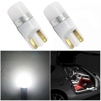 WLJH 2x bombillas LED T10 PC194 6000K 168 2825 T10 W5W ...