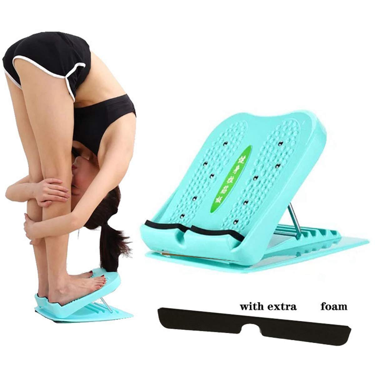 Leg Calves Muscle Exerciser Achilles RO/&LY Portable Slant Board-Adjustable Incline Board-Leg Exercise Ankle Foot Calf Stretcher-Balancing Stretching Board Ankle Therapy Stretch Wedge for Hamstring
