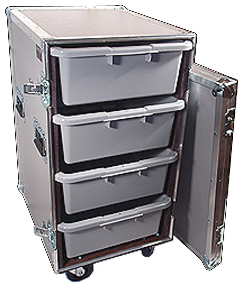 Drawer Workbox - 4 Large Tub - Drawer Heavy Duty 3/8 Ply ATA Case with Wheels by Roadie Products, Inc. (Image #2)