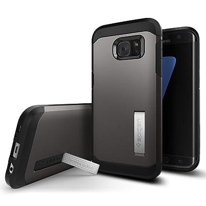 newest cc414 d1460 Galaxy S7 Edge Case, Spigen Tough Armor - Kickstand and Heavy Duty Air  Cushion Technology for Samsung Galaxy S7 Edge (2016) - Gunmetal