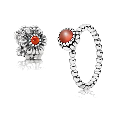 Original Pandora Gift Set 1 July Birthstone Ring 190854car 50 And