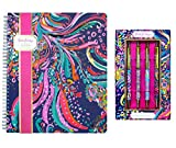 Lilly Pulitzer Women's Large Notebook and Pen Set (Beach Loot)