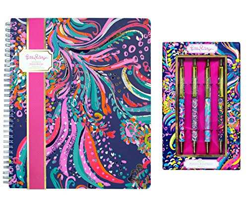 Lilly Pulitzer Women's Large Notebook and Pen Set (Beach Loot) by Lilly Pulitzer