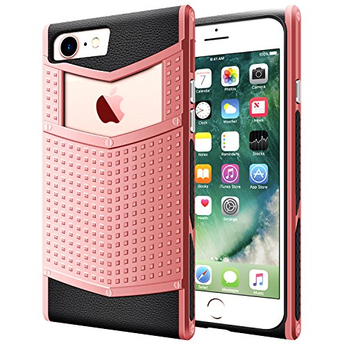 iPhone 6s Case, LOEV Non-Slip Grip iPhone 6s Slim Case, [Unique Design][Square Shape] Heavy Duty Dual Layer Armor Shockproof Rubber Bumper Protective Case Cover for Apple iPhone 6 6s 4.7