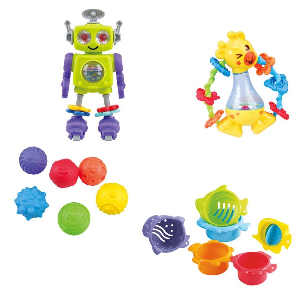 Playgo Set actividades bebé: robot y sonajero Color Baby