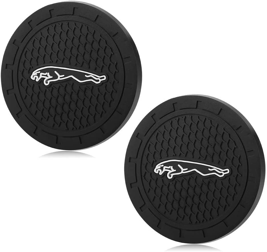 Auto Sport 2.75 Inch Diameter Oval Tough Car Logo Vehicle Travel Auto Cup Holder Insert Coaster Can 2 Pcs Pack Bohemian Style Red Car Accessories