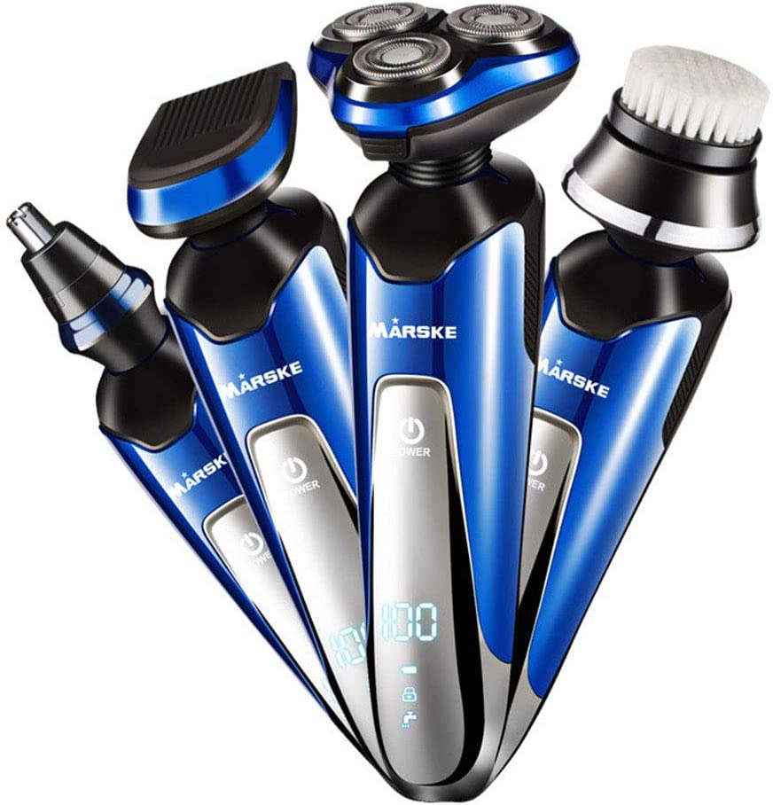 Afeitadora Barba Electrica Rotativa Hombre, IP7 Impermeable ...